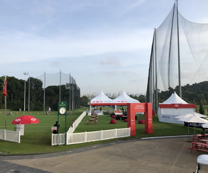 HSBC Women's World Championship at Sentosa Golf Club. Activation area setup and local coordination for our US-based client.