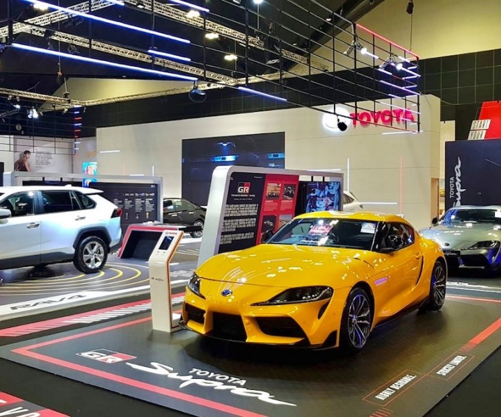 The hyper-immersive Infinicube was used as Toyota GR Supra's storytelling platform at the Singapore Motorshow 2020